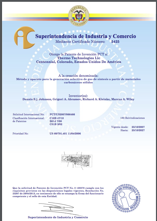 Colombia Patent